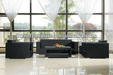 Garden outdoor rattan sofa sets/Flat rattan sofa set/Three seats sofa set