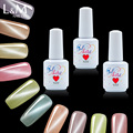 L&M 15ml New arrival wholesale uv gel nail polish private label nails uv jade cat eye gel