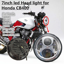 Universal Custom Clear 7'' 12V LED Motorcycle Projector Headlight For HONDA Honda CB400 CB500