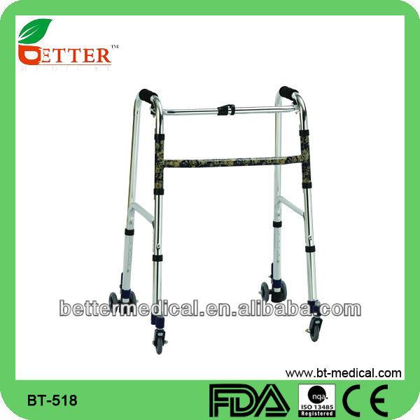 Aluminum disable Walker with push down brake function