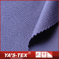2016 Best selling plain dyed stretch polyester jacquard fabric