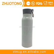 BPA free eco-friendly easy carrying stainless steel bottle with silicone stripe