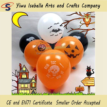 "Made In China 12"" Latex Pumpkin Halloween Face Skeleton Hallowee Balloons for Party Decoration"
