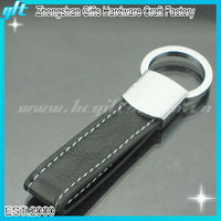 Hottest selling!Souvenir car brand leather keychain,embossed leather keychain,black leather keychain