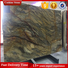 The silk road marble with brown curly grain stone price