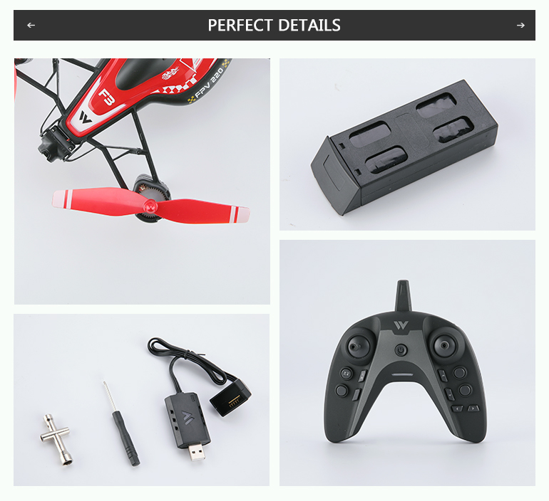 quadcopter wifi camera fpv racing high speed drone with iron core motor