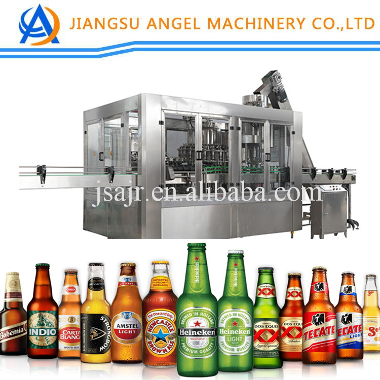 Automatic screw caps Glass small Bottle Beer/wine/liquid filling capping Machine with engineers overseas