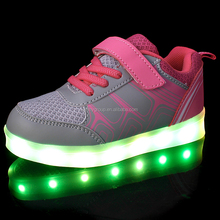 New Fashionable Colorful Luminous LED Shoes Kids Light Wholesale LED Shoes For Girls and Boys