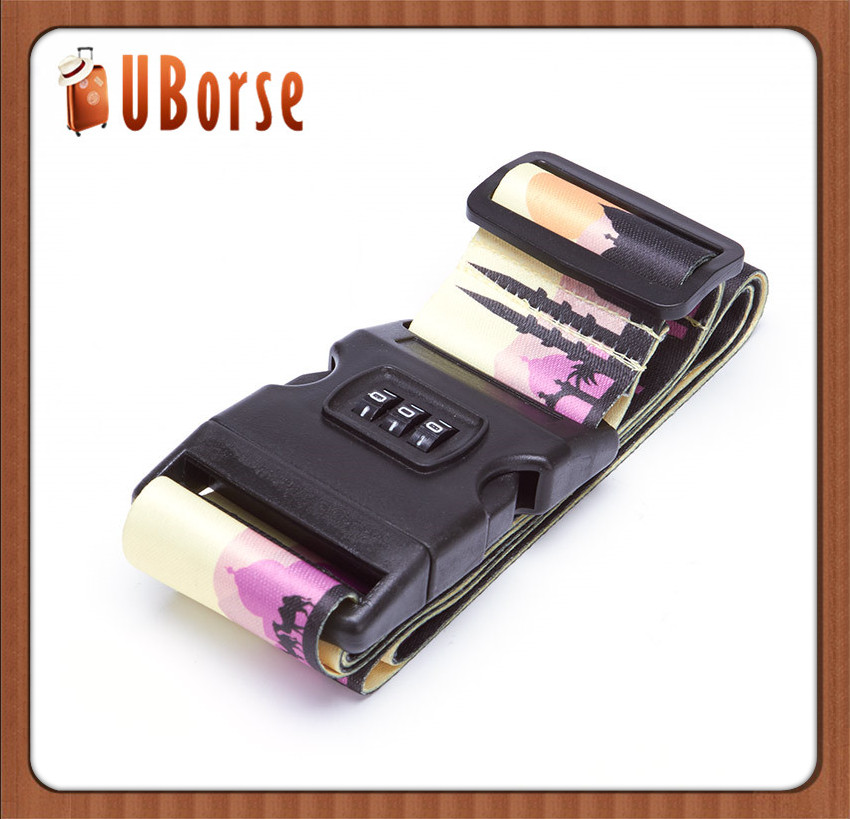 UBORSE Fashion travel cross luggage belt strap wholesale with TSA lock