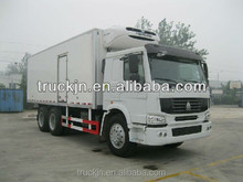 Van cargo truck HOWO 6x4 with engine 266HP
