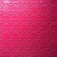pvc artificial leather , red and soft , bag leather, made in china with high quality