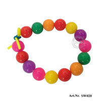 Colorful Beaded Accessory Silicone Wristband