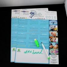 OEM Design A4 size 2018 calendar magnetic writing board