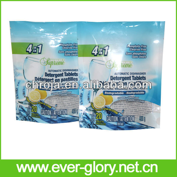 Stand Up Laundry Liquid Resealable Colourful Water Sachet