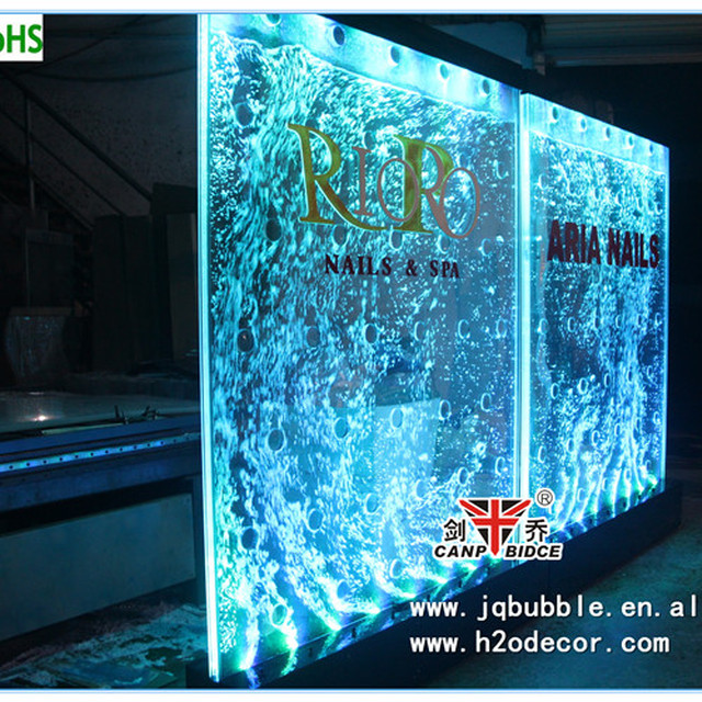 Feng shui decor water panel decorative partition wall with customized logos