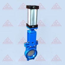 Bi-directional knife gate valve with cast iron