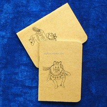 Make A6 Size Mini Saddle Stitched Brown Paper Cover Cheap Book <strong>Printing</strong>