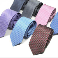DM 734 New business solid color dot formal 7 cm grey tie for mens necktie purple tie