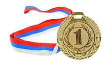 Sports award medallion custom metal medals with ribbon
