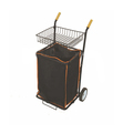 Leather-cloth tool trolley/garden/shopping cart