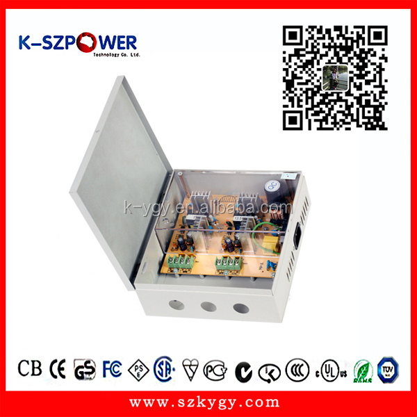 60W CCTV Power Supply Multiple outputs 4CH 12v 5A power box