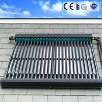 heat pipe solar collector with 2.2mm thick 58/1800 evacuated tubes