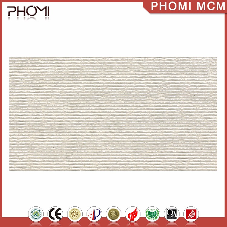 Anti-Slip Modified Clay White Exterior Natural Stone Wall Cladding
