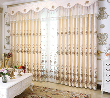 wholesale double layer luxury european style window curtains