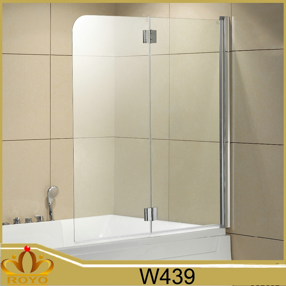Roller Shower Enclosure Cubicle Best Price Tempered Glass Plastic bath screen W439