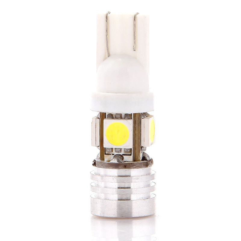 High Power T10 W5W 194 168 4 5050 SMD + Lamp Bead LED Car Wedge Light Bulb Lamp 1.5W White