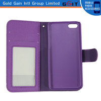 Wallet Card-slot PU Leather Case Cover Fashion Flip For iPhone 5S Cell Mobile Phone Case