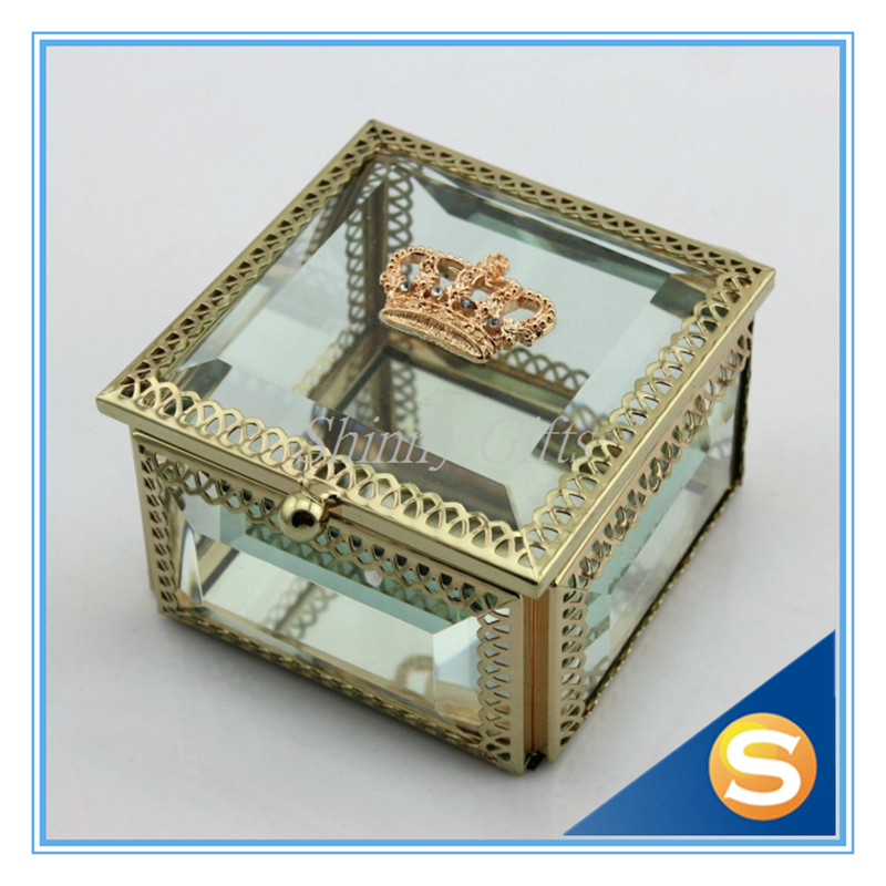 New Wedding Favor Gold Crown Jewelry Box Trinket Box Jewelries Storage Box