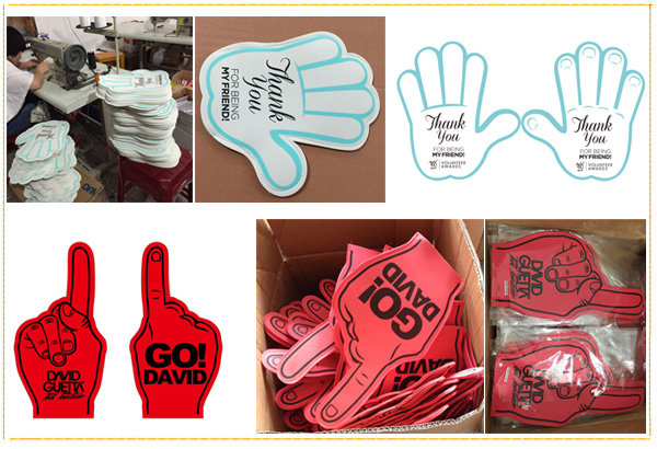 custom foam hand promotion cheer product