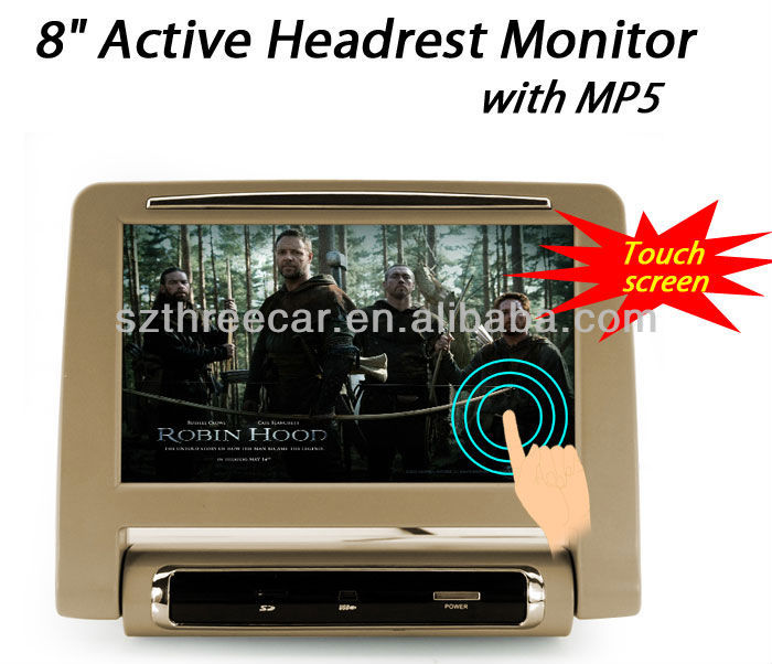 for all model cars active 8 inches surpporting MP5 headrest touch screen monitor