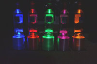 acrylic bottle glorifier LED lighting base/acrylic liquor display stand