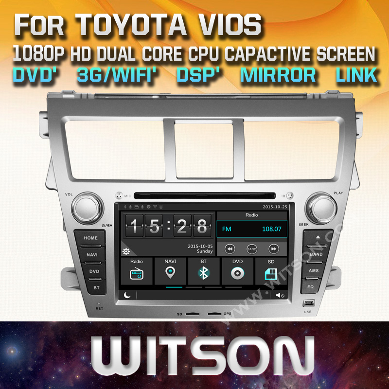 WITSON WINDOWS CAR DVD <strong>PLAYER</strong> FOR TOYOTA VIOS