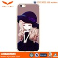 Water transfer printing cute girl hard PC mobile phone case for iphone 6