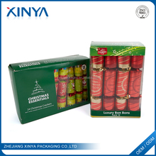 XINYA Promotional Gift Adult International Christmas Paper Crackers Indoor Fireworks Packaging