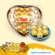24 Pcs wedding holiday festival High Quality heart gift chocolate with nuts