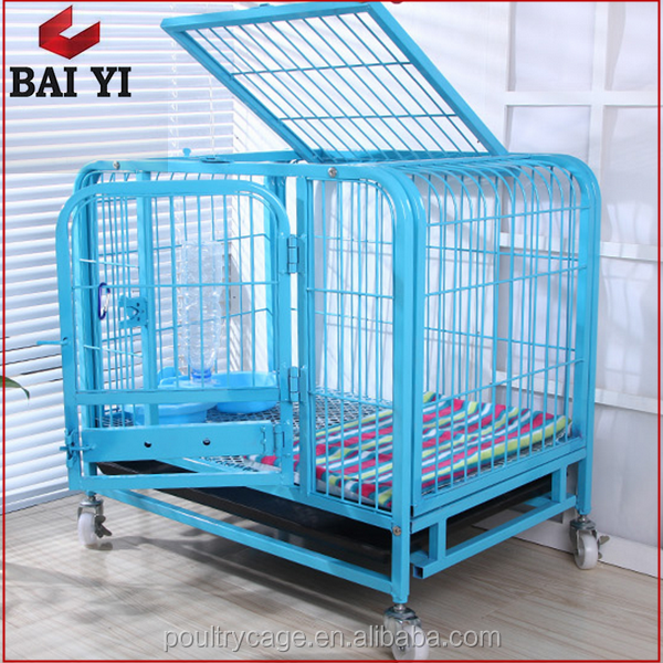 Metal Folding Square Tube Dog Cage And Professional Manufacturers Dog Crate