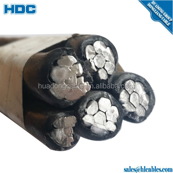 self-supporting quadruplex aerial bundled cable abc cable