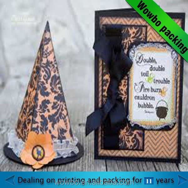 hot sale paper custom halloween gifts box with nice design