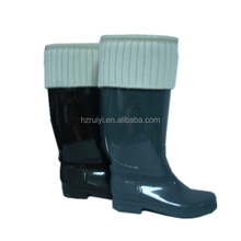 warm winter PVC snow boots waterproof knee high shoes durable working boots