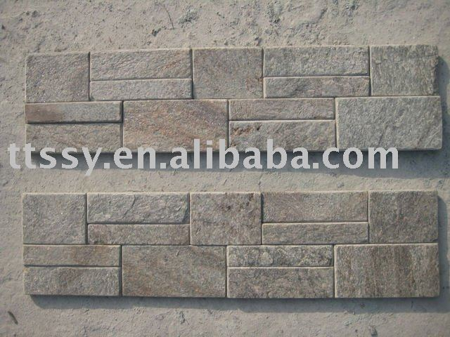 Natural rusty slate veneer stacked ledge culture stone