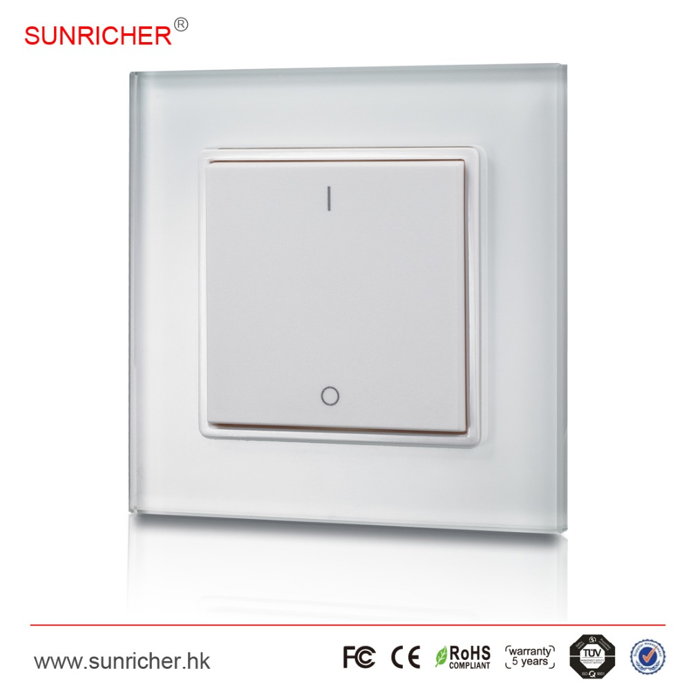 Wireless Wall Mounted LED Dimmer Switch and RF Receiver, for Single Color LED strips / LED lights