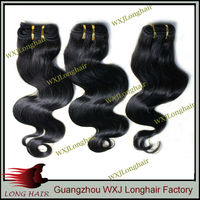 Promotion unprocessed Indian hair body wave, 60-70g hair per kilo