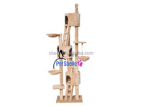 Plush pet products cat tree with houses