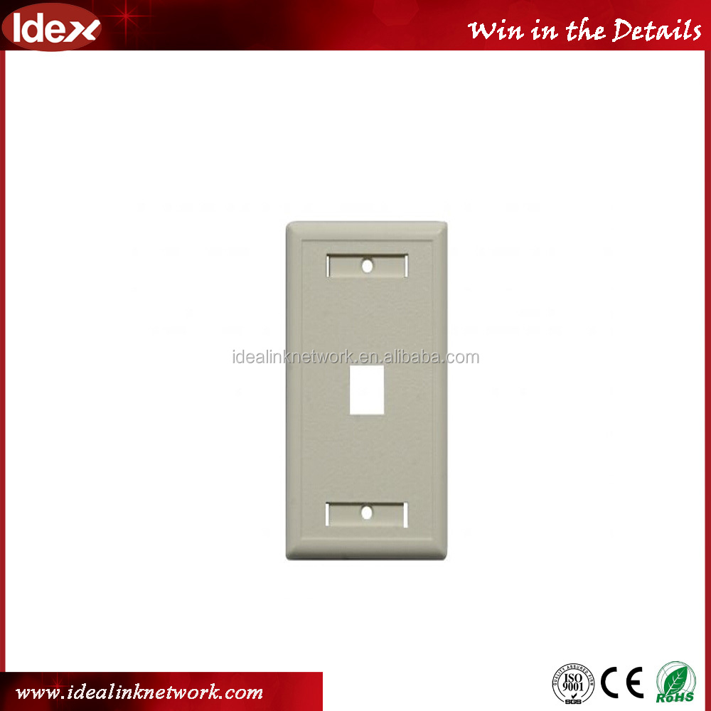With PVC, ABS materials 120 type rj45 network faceplate/face plate with 1 2 3 4 6 port