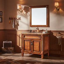 Good price french home depot antique bathroom vanity mirror cabinet sets MD-3899