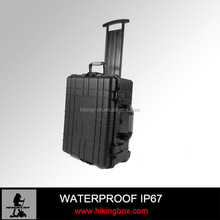 IP67 Hard Shell Large Size Plastic instrument Equipment Case with wheelsHTC023-1